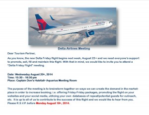 Delta Airlines Meeting Aug 20, 2014